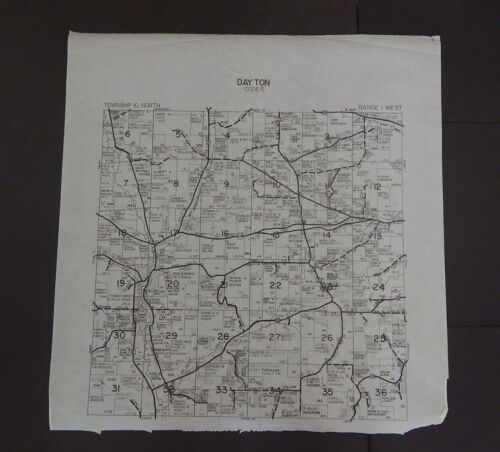 Wisconsin Richland County Map Dayton Township c.2010 Master