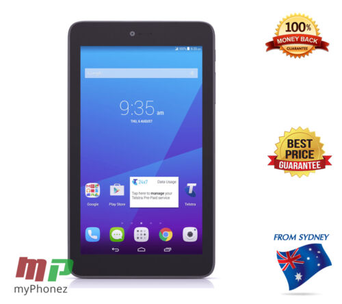 "NEW Telstra Essential tab 7"" [WiFi+3G 8GB 2MP] Unlocked Black Tablet [AU STOCK]"