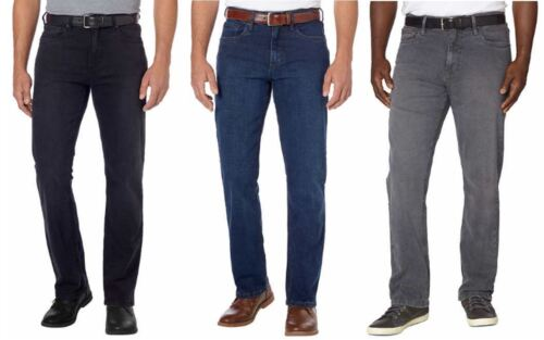 NEW-URBAN STAR Men's Relaxed Fit Jeans Black, Blue, Gray, Waist Size 30 to 44