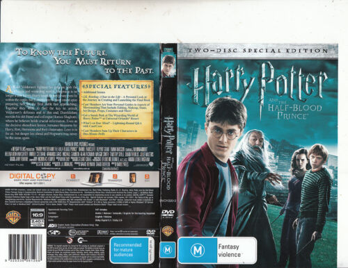 Harry Potter:And The Half-Blood Prince-2009-Daniel Radcliffe-[2 Disc]-Movie-DVD