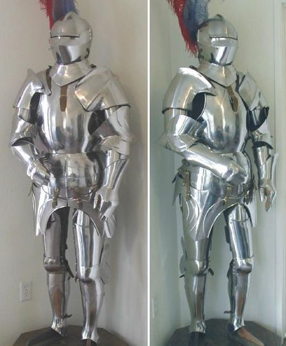 COLLECTIBLES Medieval Knight Suit of Armor, 15th Century Combat Full Body ArmourReenactment & Reproductions - 156374