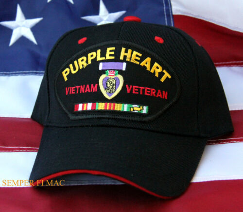 PURPLE HEART VIETNAM VET SERVICE RIBBONS CAP HAT US MARINES ARMY NAVY AIR FORCEOther Militaria (Date Unknown) - 66534