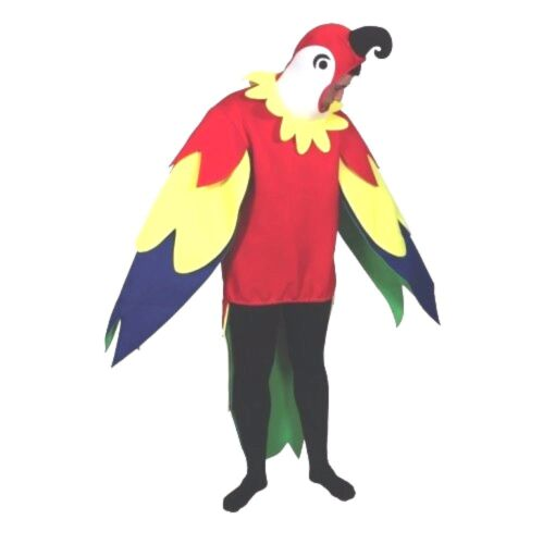 Adult POLLY PARROT Fancy Dress Costume Stag Hen Party Novelty Bird Mascot Unisex