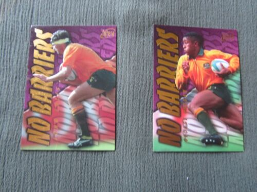 Futera No Barriers Cards-George Gregan and John EalesRugby Union Cards - 2969
