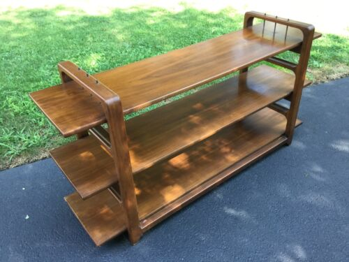 Vintage Danish Modern Mid Century Media Console Entertainment Unit Shelf System