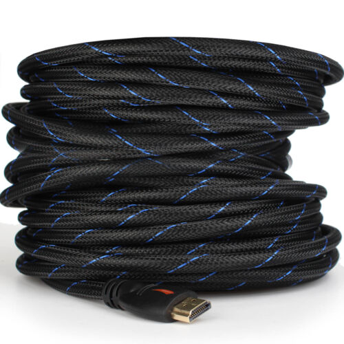 Braided HDMI Cable V1.4 1080P HD HDTV Video Lead 3D Full HD 4K 3M 5M 10M 15M 20M