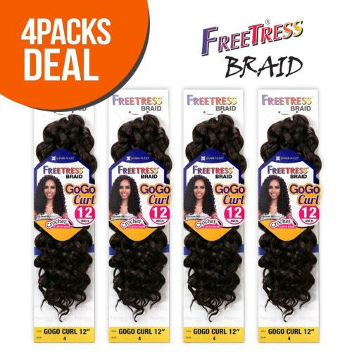 "*4-Pack/6-Pack* GOGO CURL 12"" - FREETRESS SYNTHETIC BRAID CROCHET BULK HAIR"