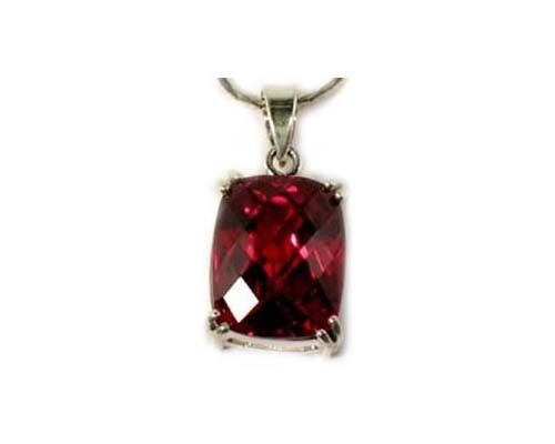 Red Topaz Pendant 22ct Handcut - Gem of Ancient Egypt Sun God Ra Magick