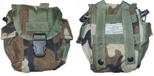 10 (Ten) US Military Army Woodland MOLLE II Canteen Cover Utility PouchPouches - 70991