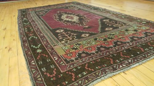 """Exquisite Antique 1935-1940's Wool Pile Natural Color Oushak Area Rug 4'1""""×7'8"""""""