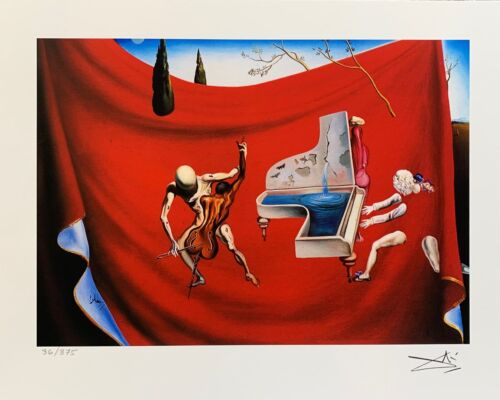 Salvador Dali MUSICAL TEMPEST Facsimile Signed & Numbered Art Giclee