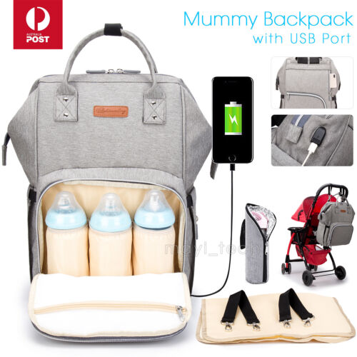 Multifunctional Large Baby Diaper Backpack Changing Waterproof Bag Mummy Nappy