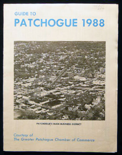 1988 PATCHOGUE MEDFORD LONG ISLAND FOLDING MAP ADVERTISEMENTS BUSINESS DIRECTORY