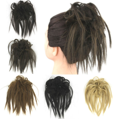 Synthetic Hair Flexible Scrunchie Bun Wrap For Wave Curly Hair Chignon Ponytail
