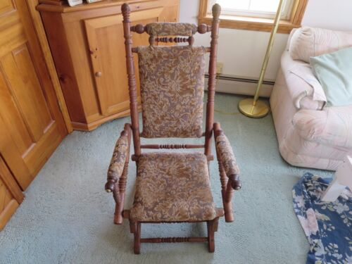 Vintage Carpet Rocking chair