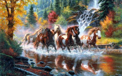 Horse painting abstract art wall Canvas print Home Decor quality choose  size