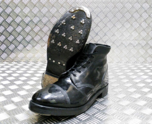 Genuine British Military Issue Leather Ammo Parade Dress Boots - All Sizes