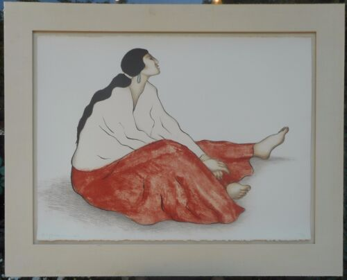 RC Gorman Anabah St I Signed Original Lithograph Print Southwest Native American