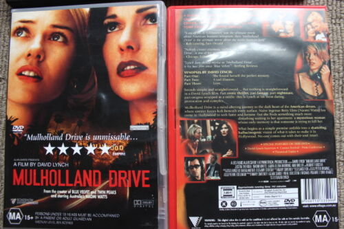 MULHOLLAND DRIVE RARE DELETED DAVID LYNCH MOVIE DVD NAOMI WATTS WITH EXTRAS