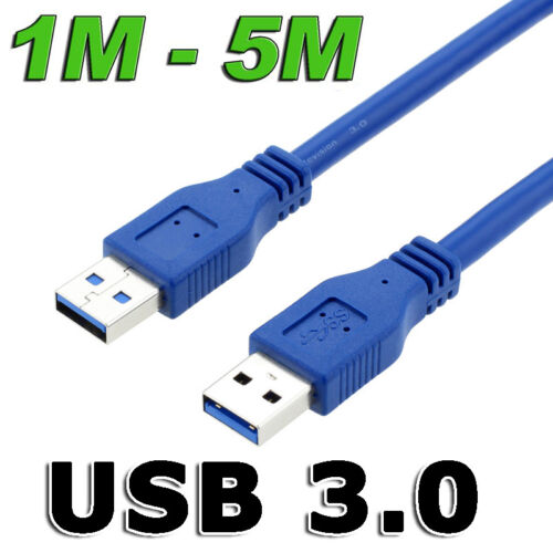 Fast USB 3.0 Super Speed Data Connection Cable Type A Male to A Male M-M Cord