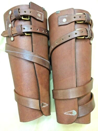 WWI Leather Leggings - ALL SIZES AVAILABLE (Reproduction)Australia, ANZAC - 156407