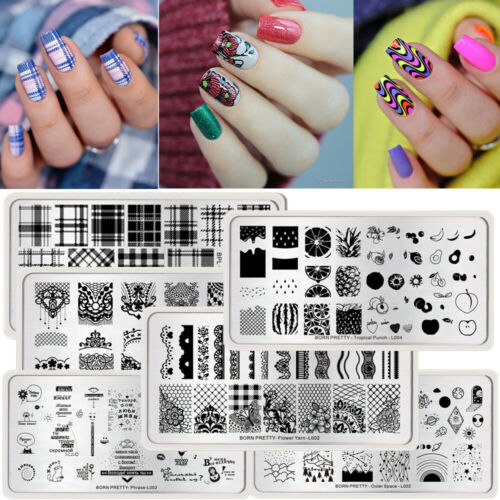 52 Patterns Nail Art Stamping Plates Multi Design Image Stamp Template Manicure