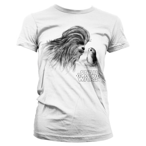 Officially Licensed Star Wars- Chewbacca & Porg Women's T-Shirt S-XXL Sizes