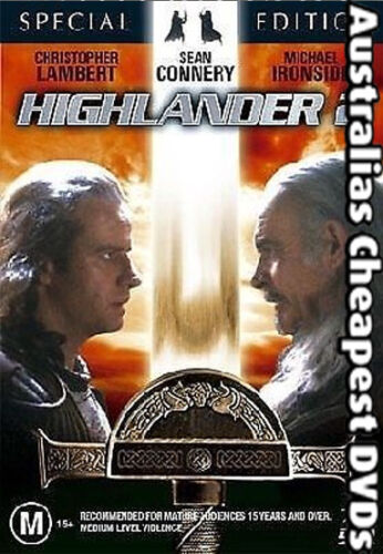 Highlander 2 - The Quickening DVD NEW, FREE POST IN AUSTRALIA REGION 4