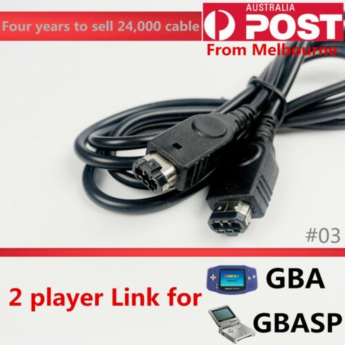 2 player link cable cord lead for Gameboy Advance GBA/SP console game transfer