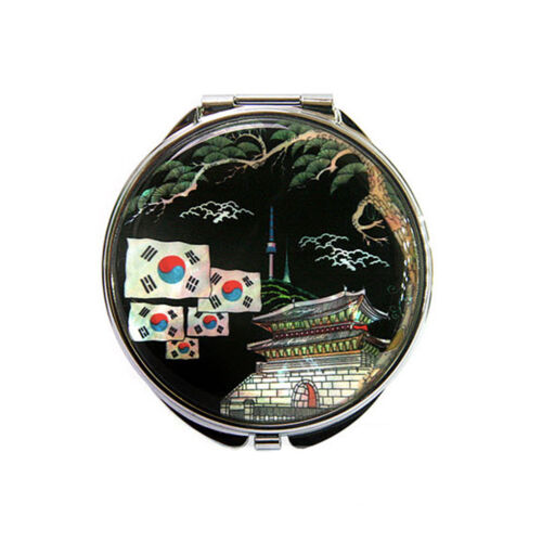 Korean Traditional Silver Hand Mirror Giftbox Mother-of-pearl gife Type C