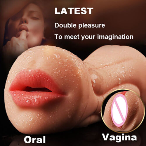 Realistic Oral 3D Deep Throat Masturbators Pocket Pussy Oral Sex Toys for Male