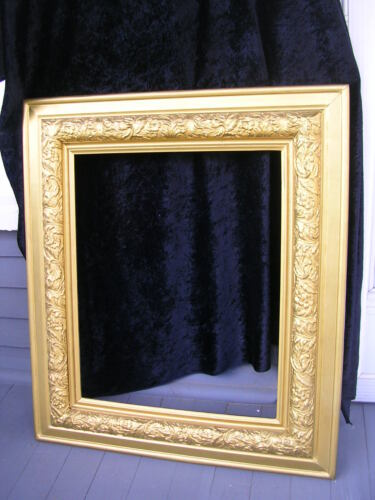 """ANTIQUE,VICTORIAN GOLD COLORED ORNATE PICTURE FRAME, 26 1/2"""" X 30 1/2"""","""