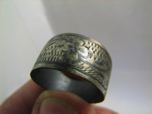 NICE VINTAGE STERLING SILVER RING 100 % WEARABLE ! #6272
