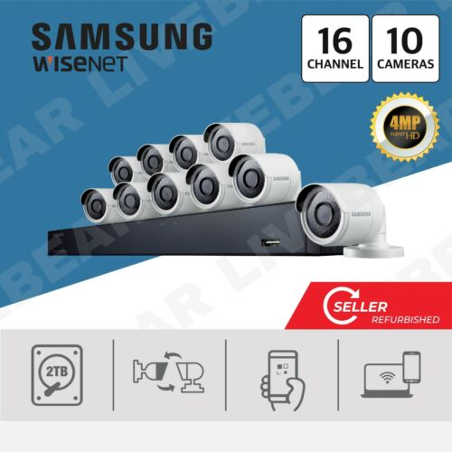 (Seller Refurbished) Samsung SDH-C85100 2TB 16 CH Security System w/ 10 cameras