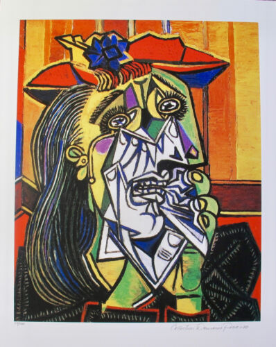 """Pablo Picasso CRYING WOMAN Estate Signed Limited Edition Art Giclee 20"""" x 26"""""""