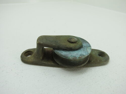 1+5/16 INCH BRONZE DECK PULLEY BLOCK BOAT SHIP BRASS BLOCK TACKLE (#268)