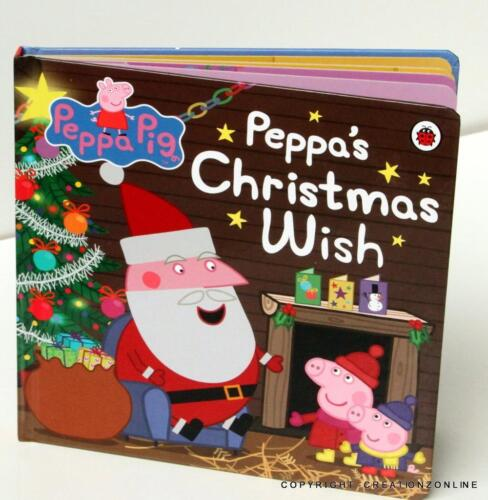 PEPPA'S CHRISTMAS WISH HARCOVER BOARD BOOK SYDNEY STOCK - FREE SHIPPING