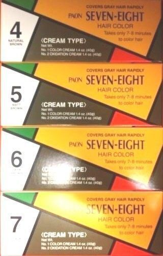 1 PCS, PAON SEVEN-EIGHT, CREAM TYPE, HAIR COLOR, #4, 5, 6, 7
