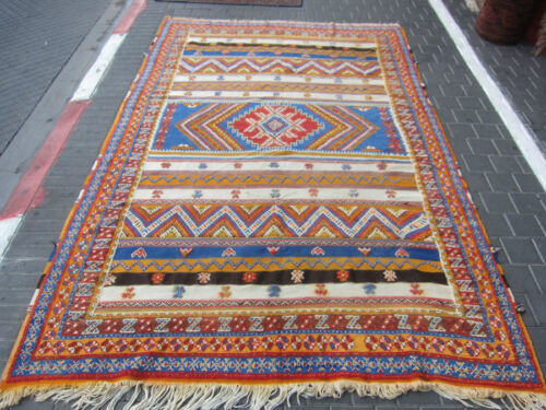ANTIQUE MOROCCAN CARPET RUG HAND MADE 300x190-cm /118.1x74.8-inches