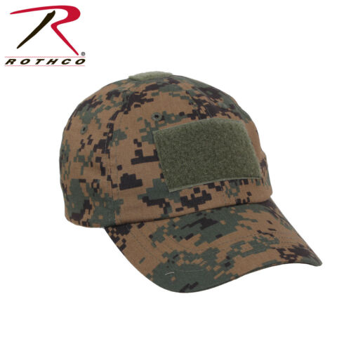 WOODLAND DIGITAL CAMO ROTHCO TACTICAL OPERATORS CAP OPS HAT ONE SIZE  ADJUSTABLE d4d5c5bff8ae