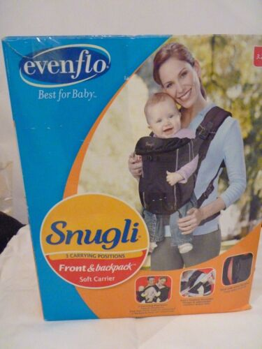Evenflo Snugli 3 carrying positions front and backpack soft baby carrier 11.8k