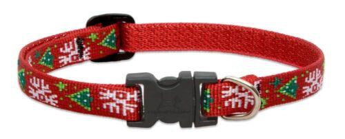 "NEW Christmas Cheer Red Dog or Cat Collar 1/2"", 3/4"" or 1"" by Lupine (Holiday)"
