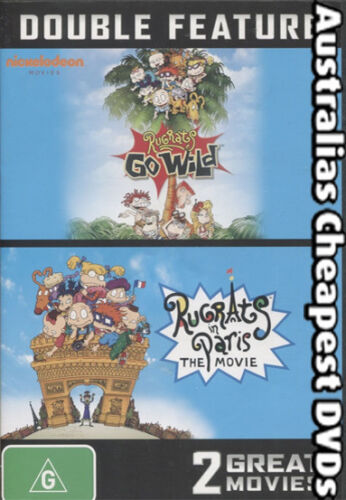 Rugrats Go Wild - Rugrats in Paris DVD NEW, FREE POSTAGE WITHIN AUSTRALIA REG 4