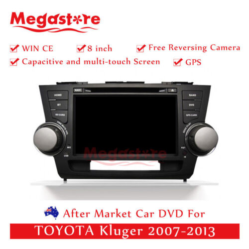 "8"" Car DVD GPS Navigation Head Unit Stereo For TOYOTA Kluger 2007-2013"
