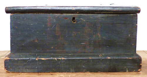 Antique 19th C PA Wooden PAINTED Folk Art BIBLE Document BOX CHEST Dated 1848