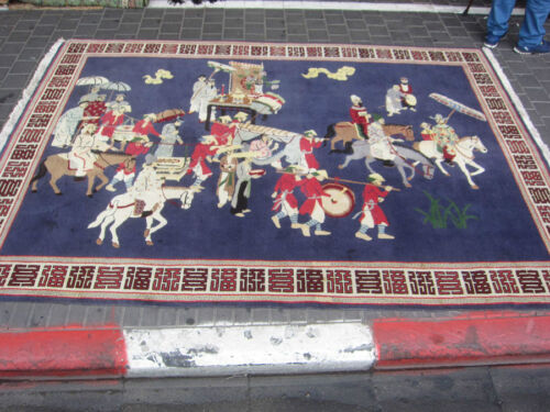 Beautiful hand-woven Chinese Antiques Carpet rug 300x200-cm / 118.1x78.7-inches