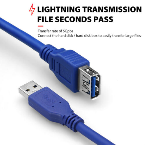 Premium 1m 2m 3m 10m USB 3.0 A Male to Female Extension Cable Cord UL Listed