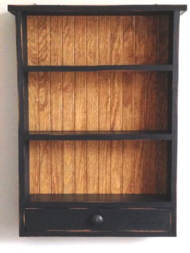 Primitive Country Rustic Handcrafted Shaker Shelves /Drawer Wall/Counter Cabinet