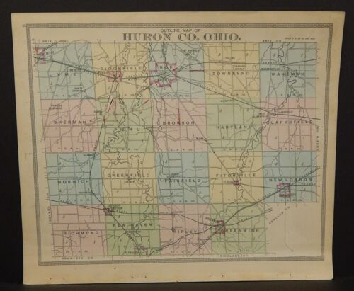 Ohio Huron County 1891  !Y14#68
