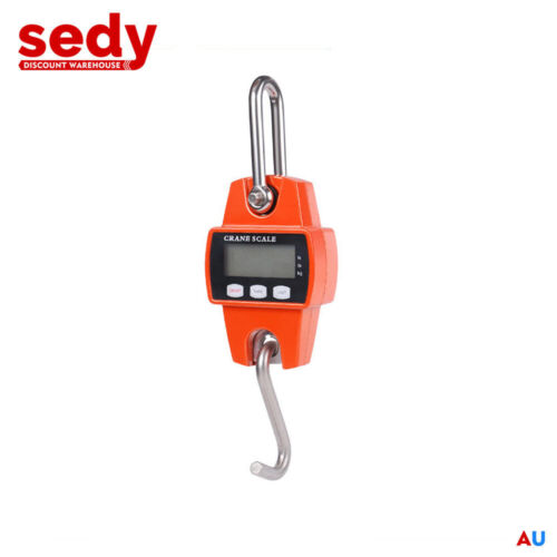 300kg Mini Crane Scale Portable Digital Weight Lift Measuring Weighing Measure